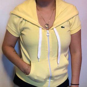LACOSTE SPORT. Women Short sleeve hoodie.